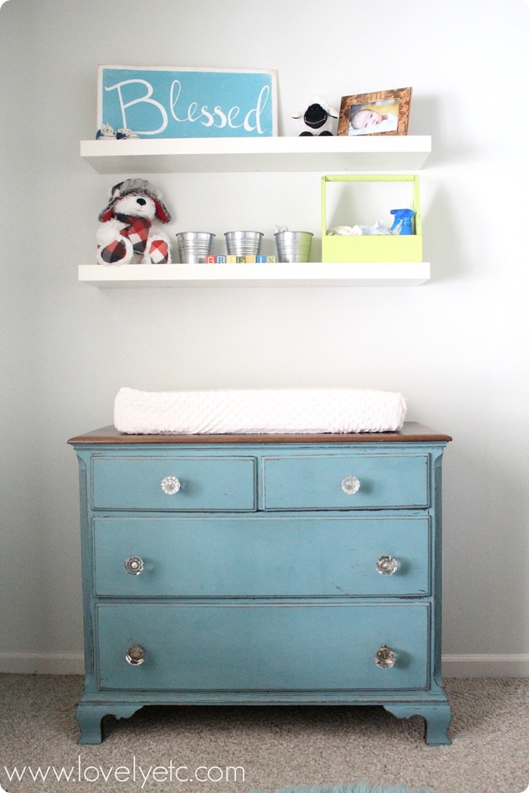 Dresser Update with Vintage Door Knobs  Lovely Etc