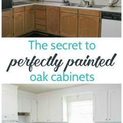 Oak Cabinets Kitchen Driftwood Table Painting White An Amazing Transformation Lovely Etc Step By Tutorial For Including The Best Way To Get Rid