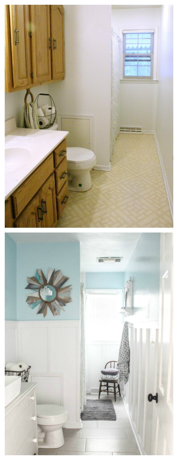 Modern Farmhouse Bathroom Before And After