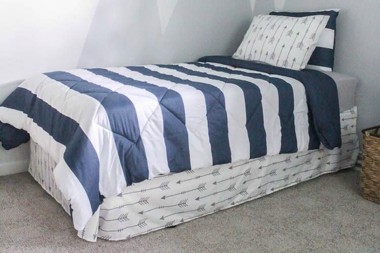 a bed skirt from a flat sheet