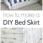 How To Make A Bed Skirt From A Flat Sheet Lovely Etc