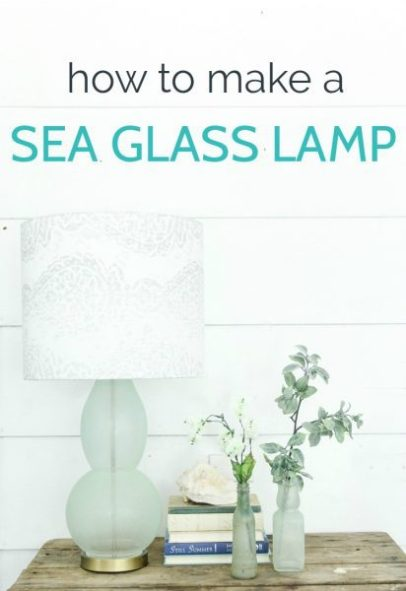 You can make a sea glass lamp and other beautiful sea glass decor using sea glass paint. It's a great way to create easy, inexpensive coastal decor.