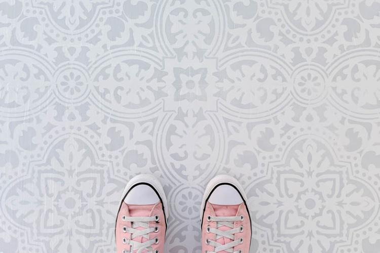 the absolute best floor stencils plus