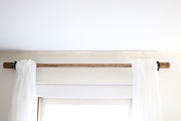 20 inexpensive diy curtain rods that