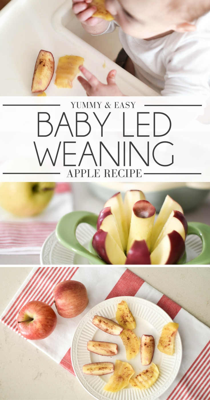 baby led weaning: easy apple recipe