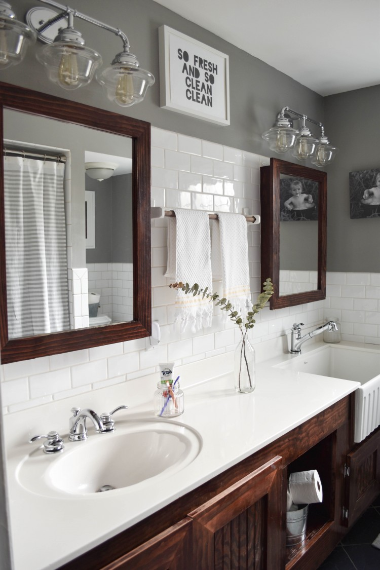 Kids Farmhouse Bathroom Reveal with Toms of Maine
