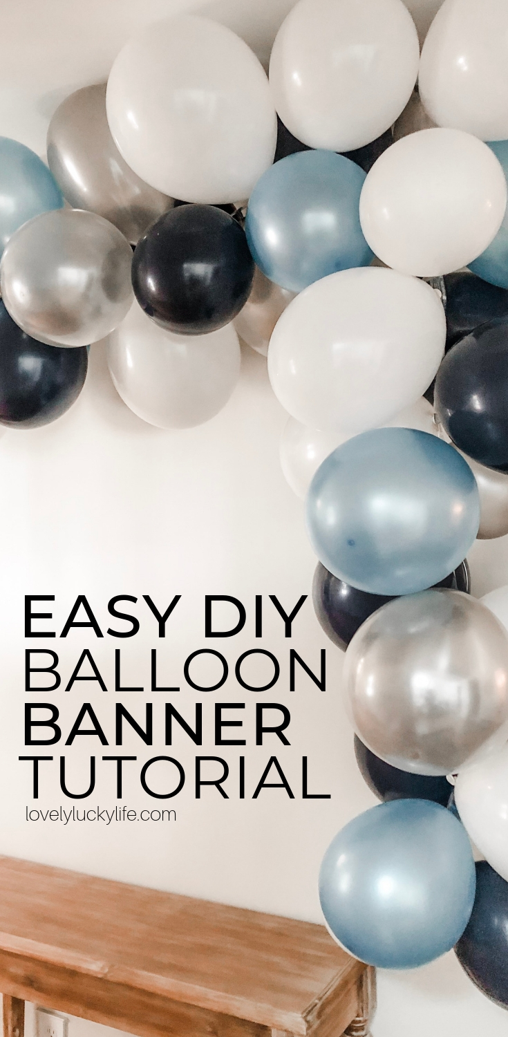 How To Make A Seriously Easy Balloon Garland  Lovely