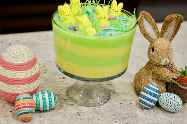 how to make a fun easter dessert, easter trifle, easy easter dessert, easter dessert for kids,