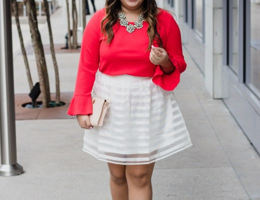 red top, white skirt, valentine's day, valentine's day inspired look, nude pumps, valentines day outfit, red and white outfit, cute valentine's day outfit