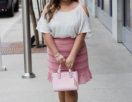 pink skirt, cold shoulder top, white blouse, pink purse, pink heels, valentine's day outfit, valentine's day look, cute outfit for valentine's day, asos skirt, agaci top, henri bendel purse, bcbg shoes, valentine's look, valentine's outfit, outfit for valentine's day, spring outfit, easter outfit, baby shower outfit, it's a girl outfit, cute pink outfit, easter dress, easter look