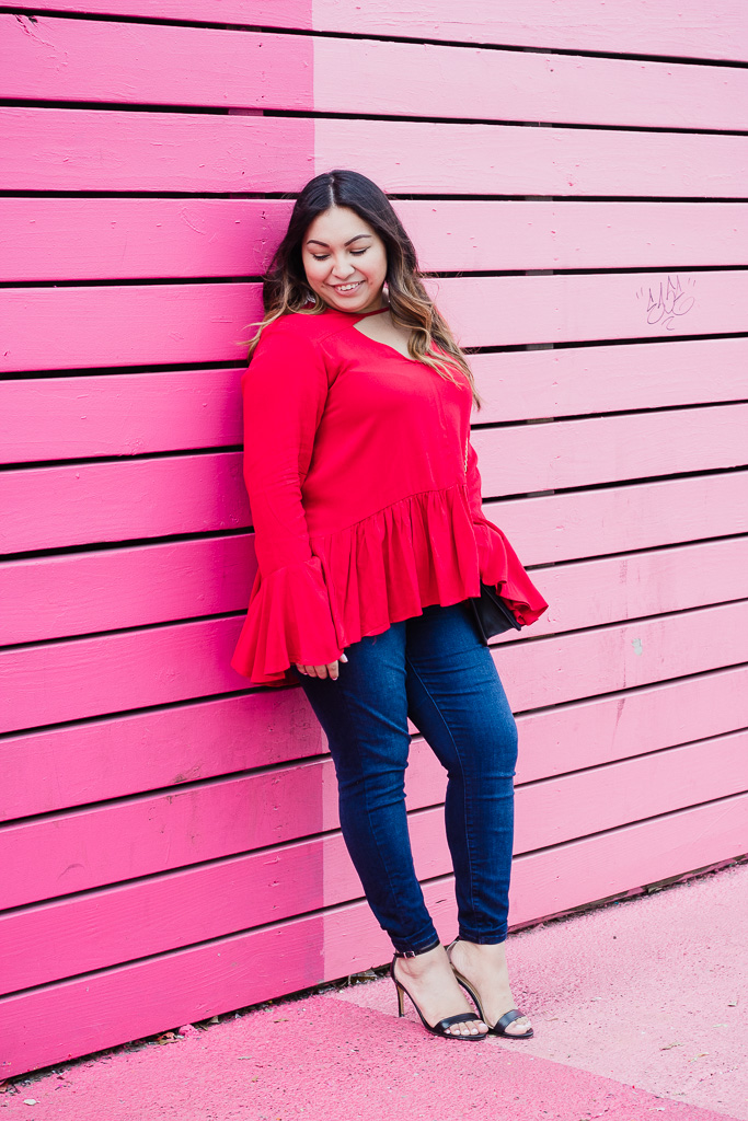 red blouse, valentine's day look, casual valentine's day, valentine, red top, valentine's day outfit, casual valentine's day outfit
