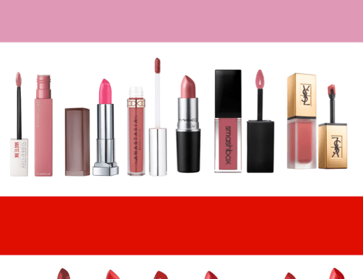 pink lipstick, red lipstick, valentine's day makeup, valentine makeup, lipsticks, maybelline, anastasia beverly hills, MAC cosmetics, smash box cosmetics, YSL beauty, YSL, urban decay, NYX cosmetics