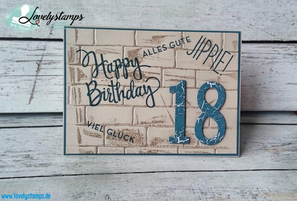 Karten zum 18 Geburtstag  Lovelystamps  Vera Tetzlaff