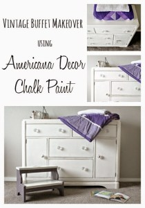 Vintage Buffet Makeover Chalk Paint Makeover