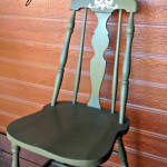 Green Chair Makeover, www.lovelyweeds.com