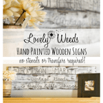 Hand paint your own wooden signs, no transfers or stencils! www.lovelyweeds.com