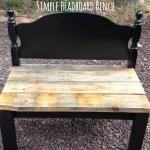 Simple DIY Headboard Bench Tutorial, www.lovelyweeds.com