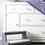 A vintage art-deco style buffet is transformed into a classy dresser/changing table for a new baby's nursery, www.lovelyweeds.com