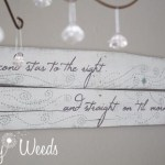 """Second star to the right, and straight on 'til morning"", Peter Pan inspired nursery sign {www.lovelyweeds.com}"