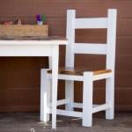 Mini farmhouse table makeover {www.lovelyweeds.com}