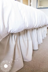 Ruffled Drop Cloth Bedskirt