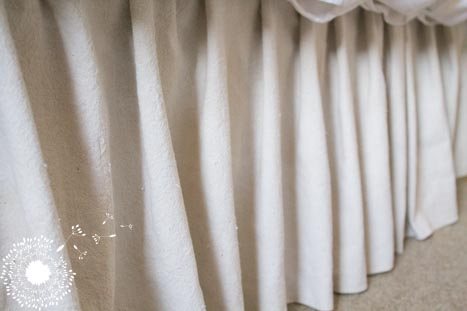 Drop Cloth Bed Skirt