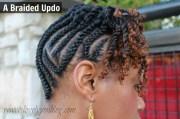 natural hair - braid updo