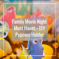 Family Movie Night Must Haves + DIY Popcorn Holder
