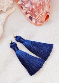 DIY Pretty Long Tassel Earrings with Studs Jewelry ...