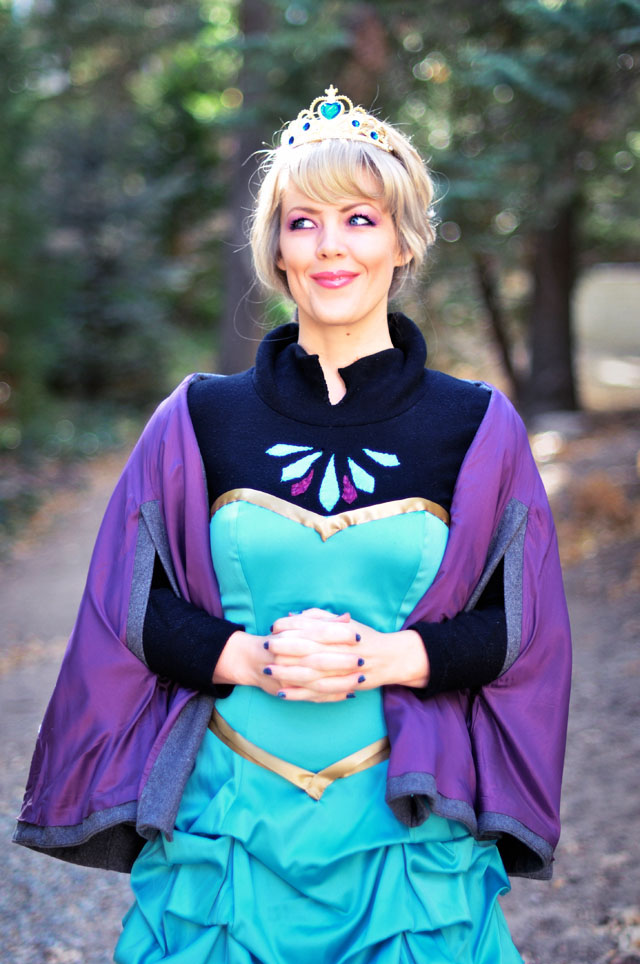 Frozen DIY Elsa Costume Before Look W Short Dress