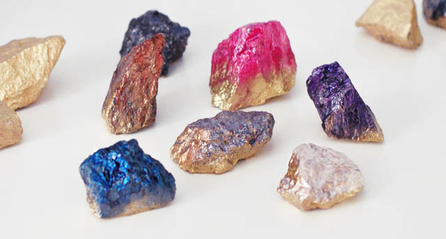 Diy Faux Crystals Using Rocks Nail Polish