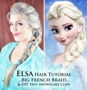 elsa hair tutorial snow queen