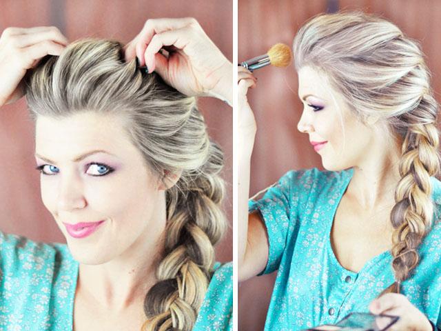 Elsa Hair Tutorial Snow Queen Big French Braid Love Maegan