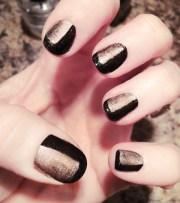 nails black & rose gold manicure