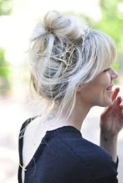 diy gold branch hair pins faux