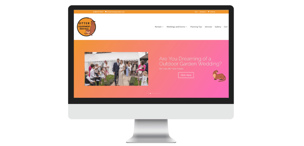 eCommerce Website Design for Weddings