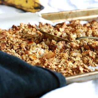 Caramelized Banana Granola (Oil-free and Sugar-free)