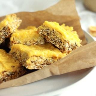 Mango Tahini Date Cereal Bars