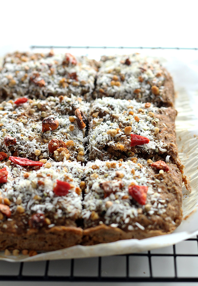 vegan superfood breakfast bars | love me, feed me