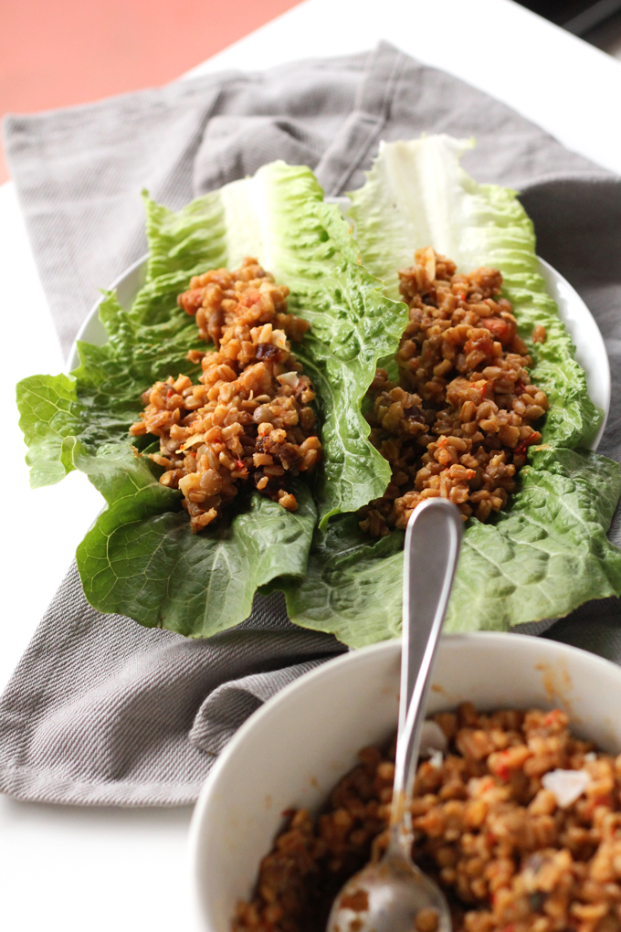 sweet and spicy harissa farro | love me, feed me