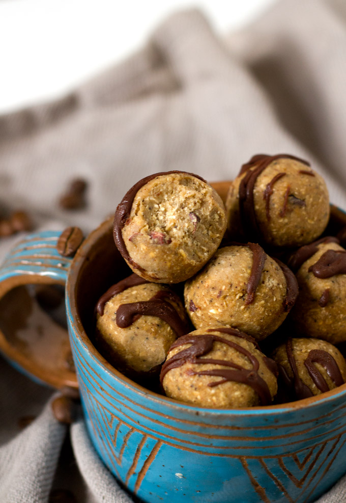 coffee cardamom bliss balls (made with chickpeas!) | love me, feed me