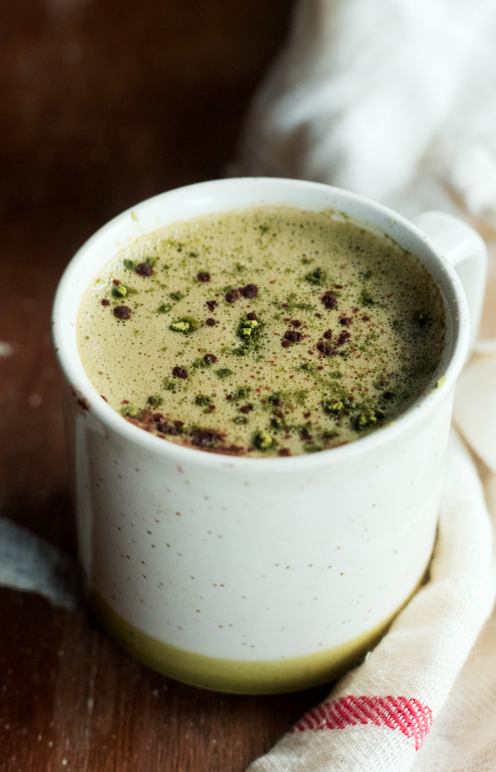 vegan matcha hot chocolate | love me, feed me
