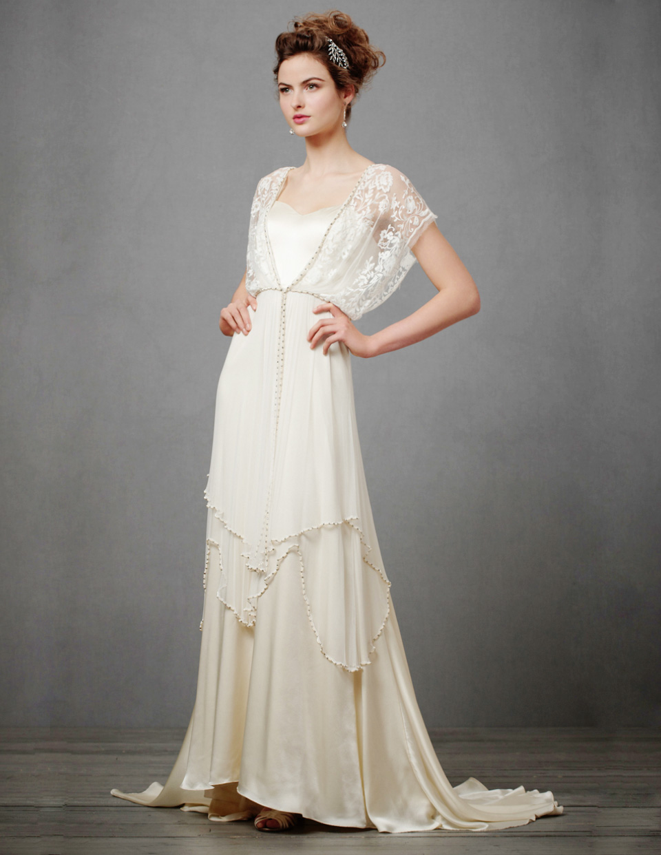 New Wedding Dresses and Accessories at BHLDN. A beautiful new selection of wedding dresses and bridesmaid dresses await you at BHLDN! The Penelope Gown has beautiful sheer illusion netting, a flowy skirt and beautiful tie at the back. It also retails for under $!