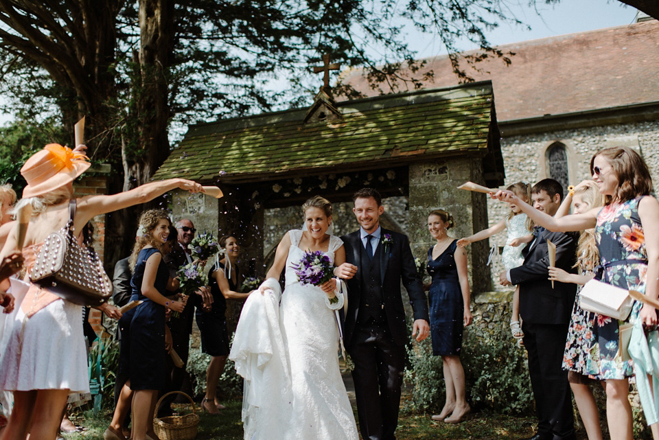 A Joanna Hehir Gown For A Homespun, Fun Filled And Rustic