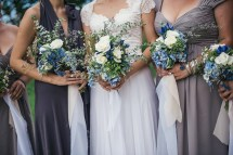 Blue Ombre Beach Wedding Dress
