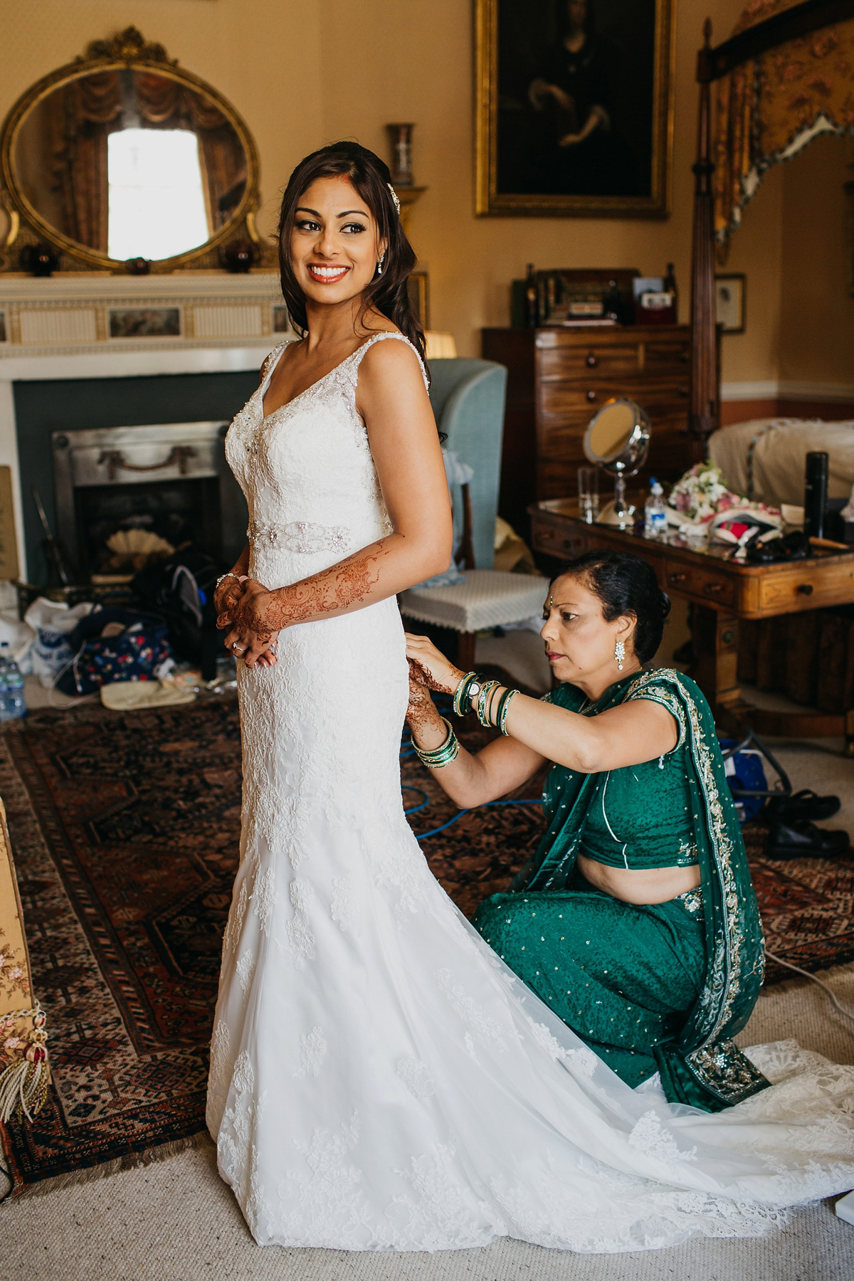 A Vibrant Indian Ceremony And Elegant English Fusion