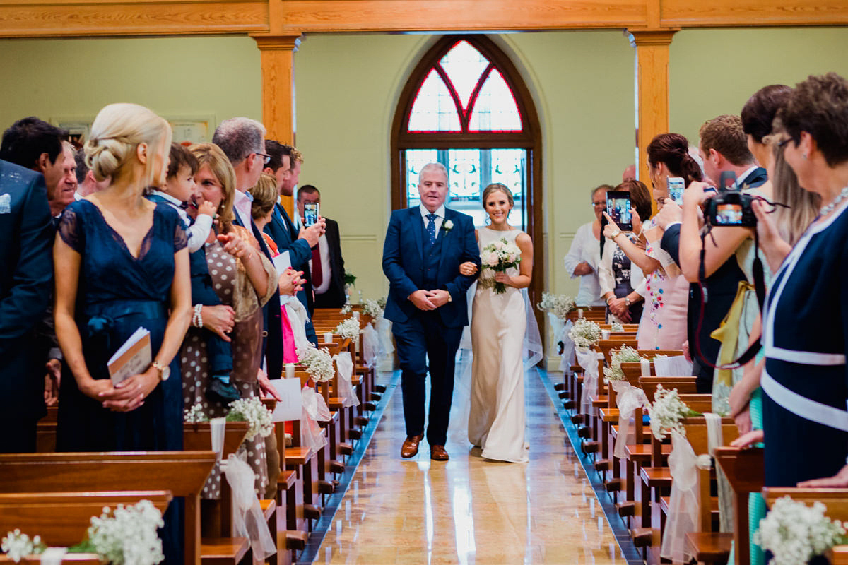 A Wilden Bride Gown For A Blush And Gold Irish Castle