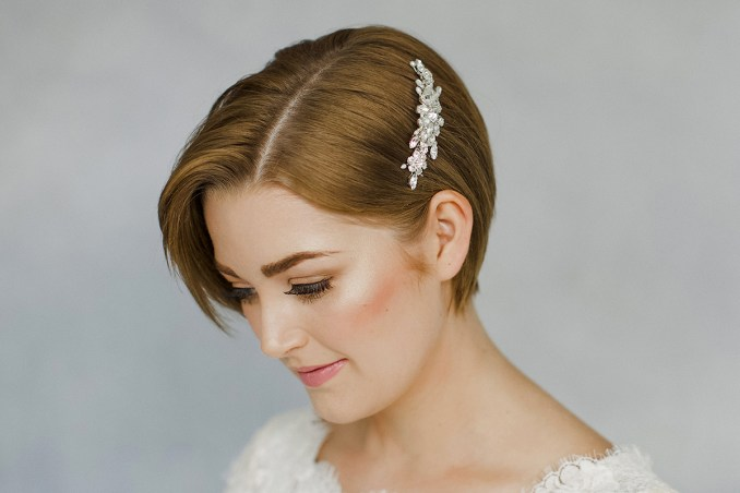 how to style wedding hair accessories with short hair   love