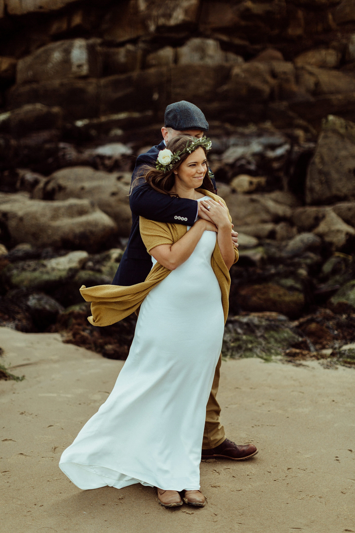 A Bride In Boots And Charlie Brear Gown For An Intimate