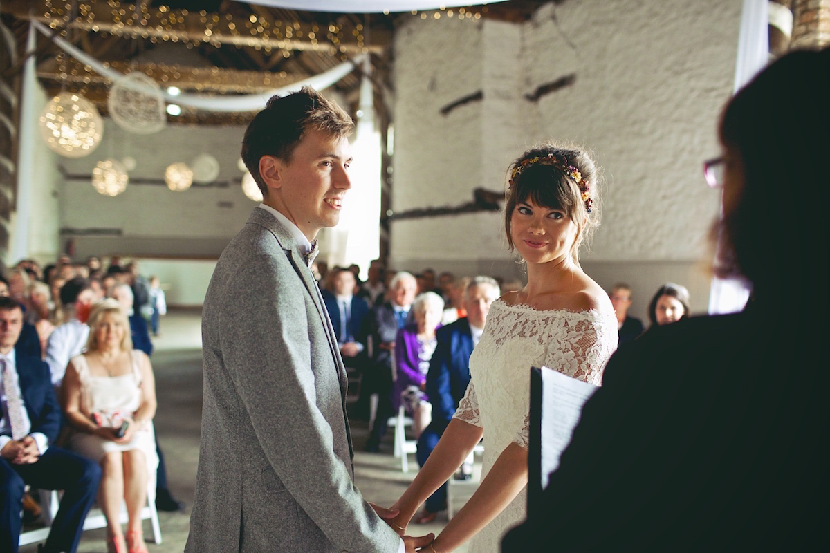 d1811a992 A Short Pronovias Dress For A 60's Festival Inspired Country Wedding  (Weddings ) ...